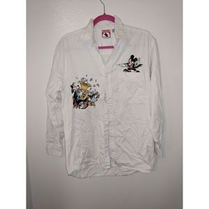 Vintage Mickey music button up shirt